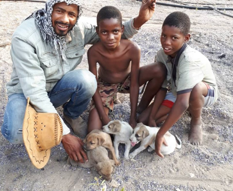 Boys and puppies for outreach 2018
