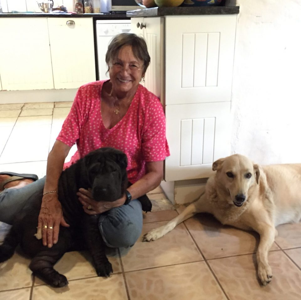 Mervyn with her dogs